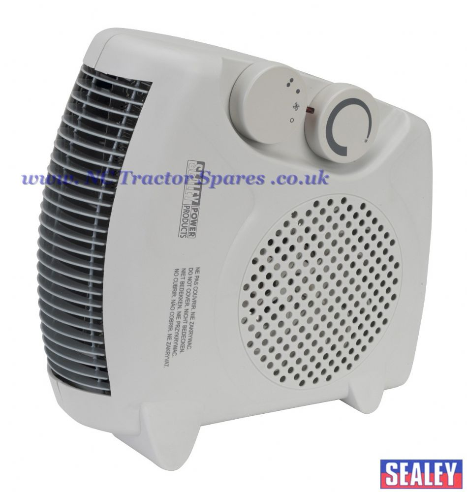 Fan Heater 2000W 2 Heat Settings with Thermostat.